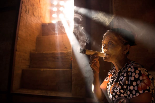 Smoking Lady